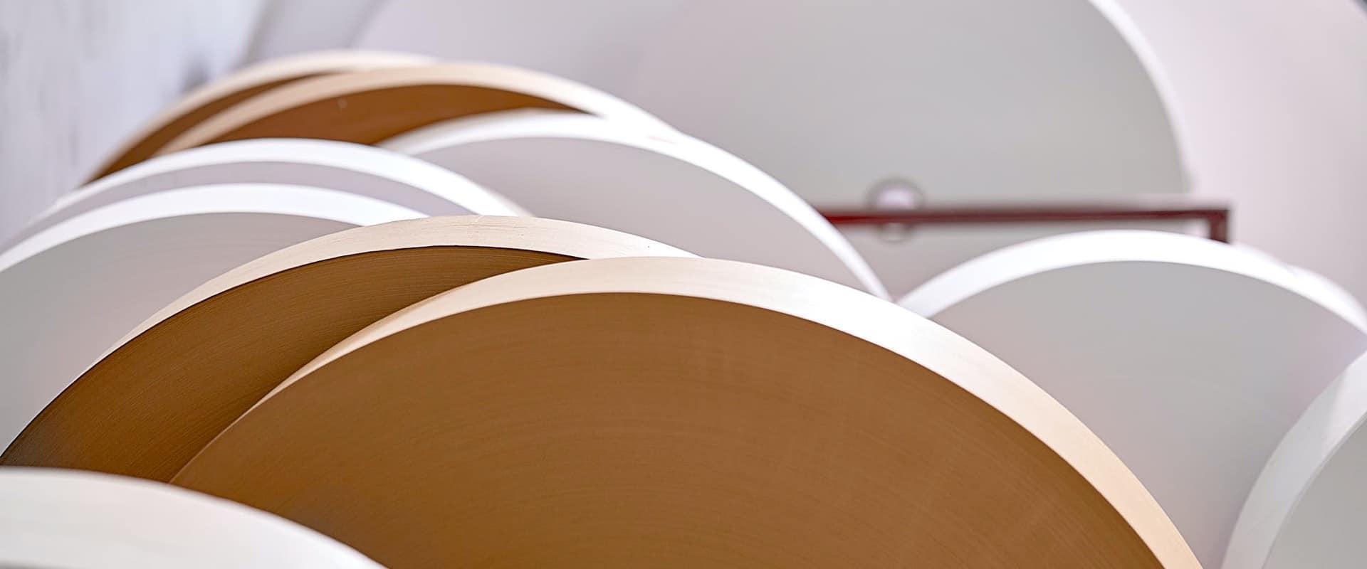 rotoli di carta certificata usata da cartotecnica postumia