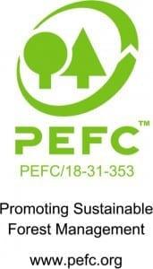 logo pefc carta certificata da foreste sostenibili